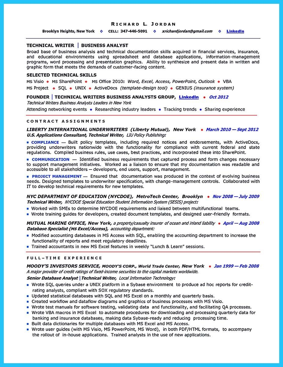 It Business Analyst Resume Nice Create Your Astonishing Business Analyst Resume And Gain The .