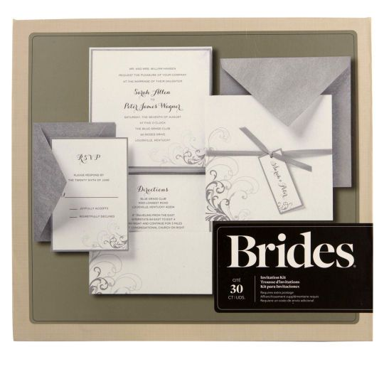 Brides Silver And White Pocket Invitation Kitbrides Kit