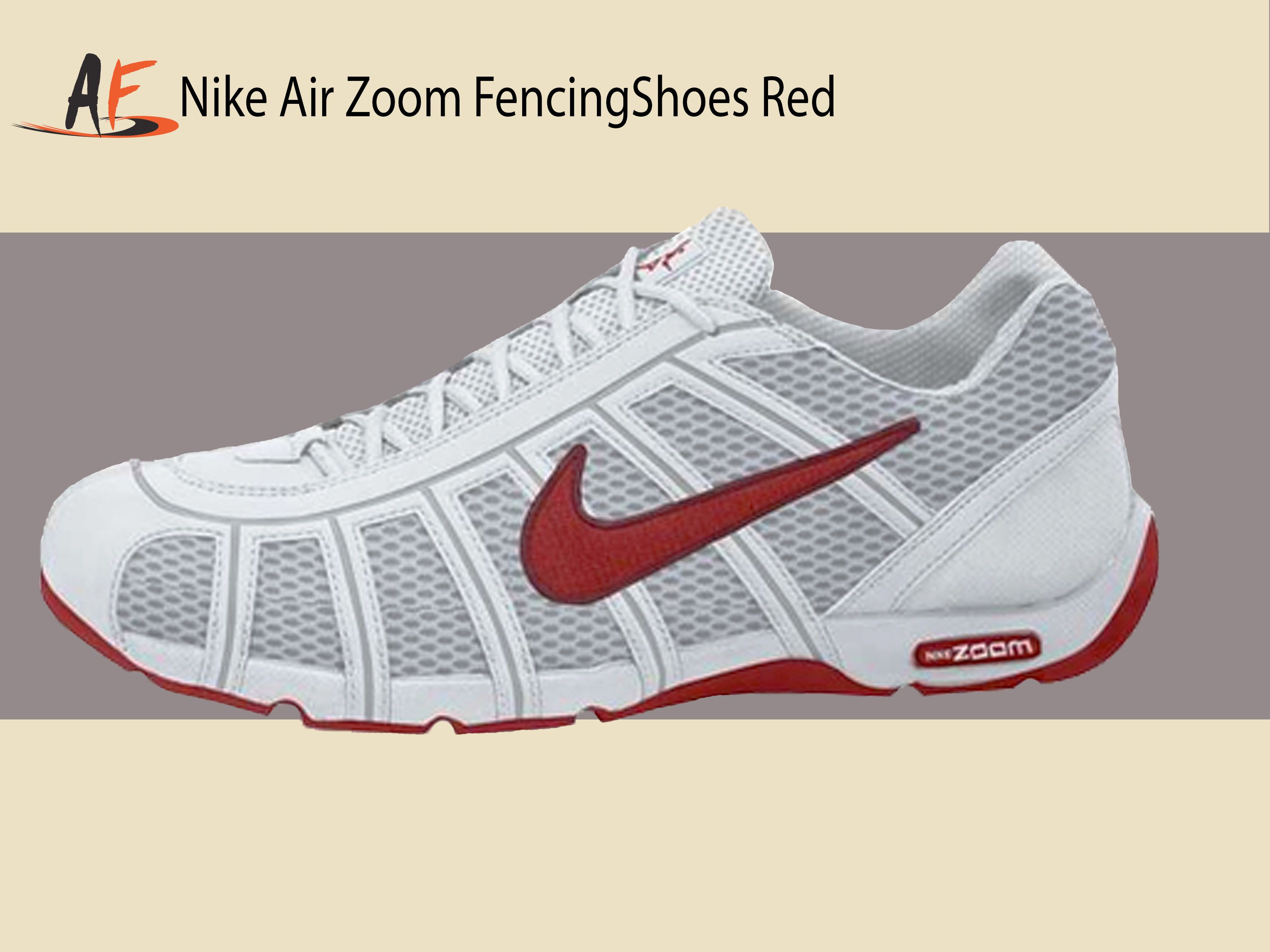 Nike Air Zoom Fencing Shoes WhiteSport Red Lt Graphite (160