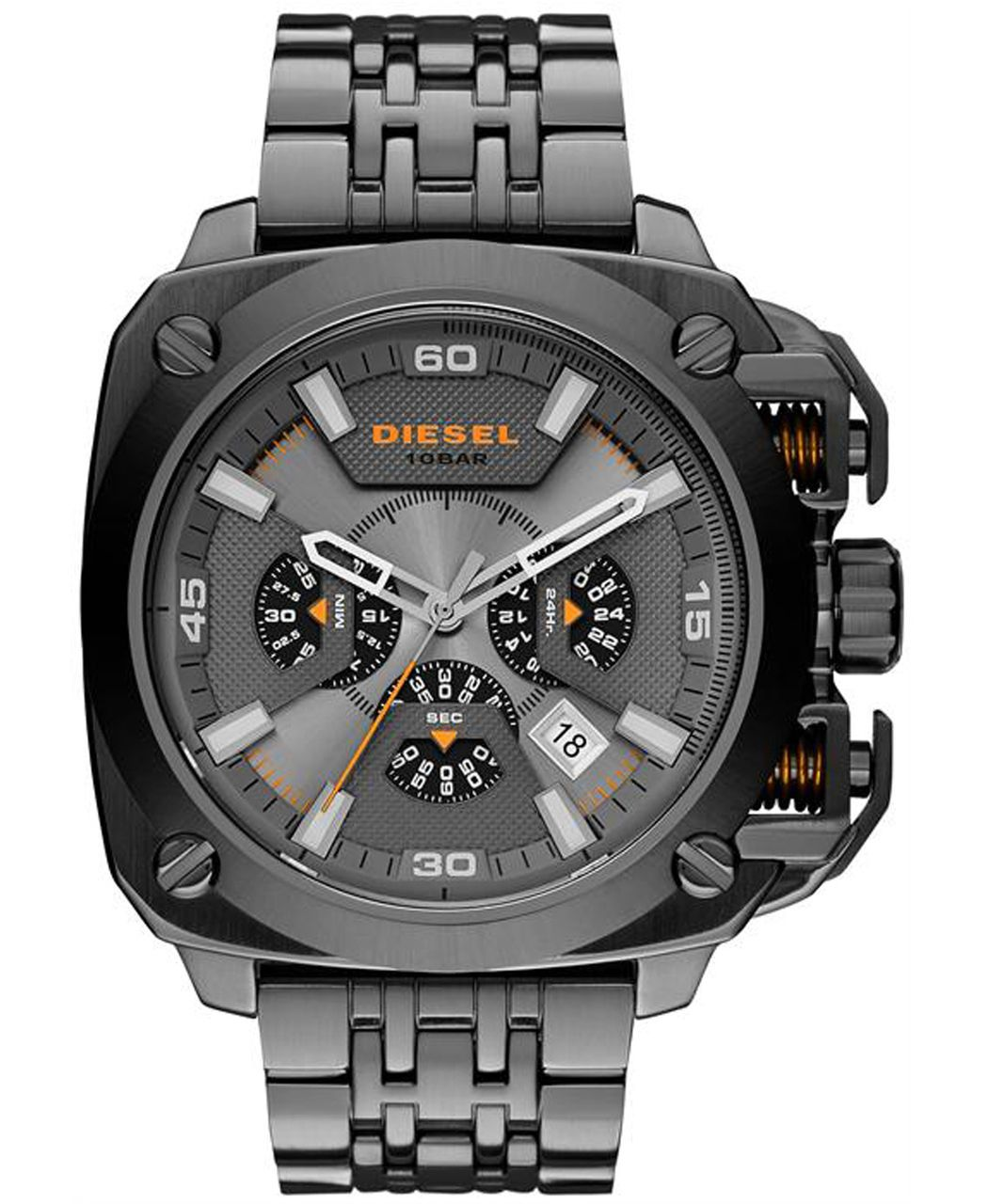 Diesel DZ7344 BAMF Gunmetal Stainless Steel Bracelet Mens Chronograph Watch