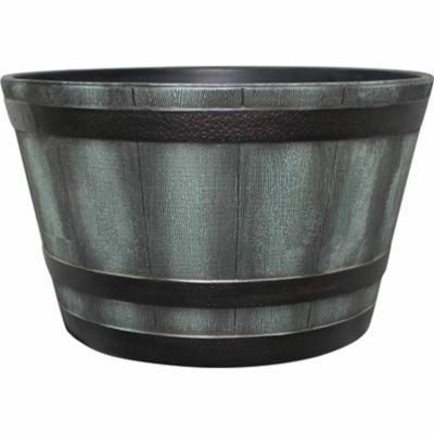 $25 Find Red Shed Whiskey Barrel Planter Plastic, 25 In. In The Outdoor  DecorPlanter