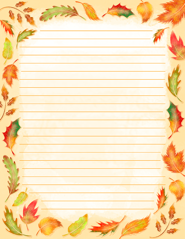 Free Printable Watercolor Fall Leaves Stationery In Jpg And Pdf Formats The Stationery Is Writing Paper Printable Free Printable Stationery Floral Stationery