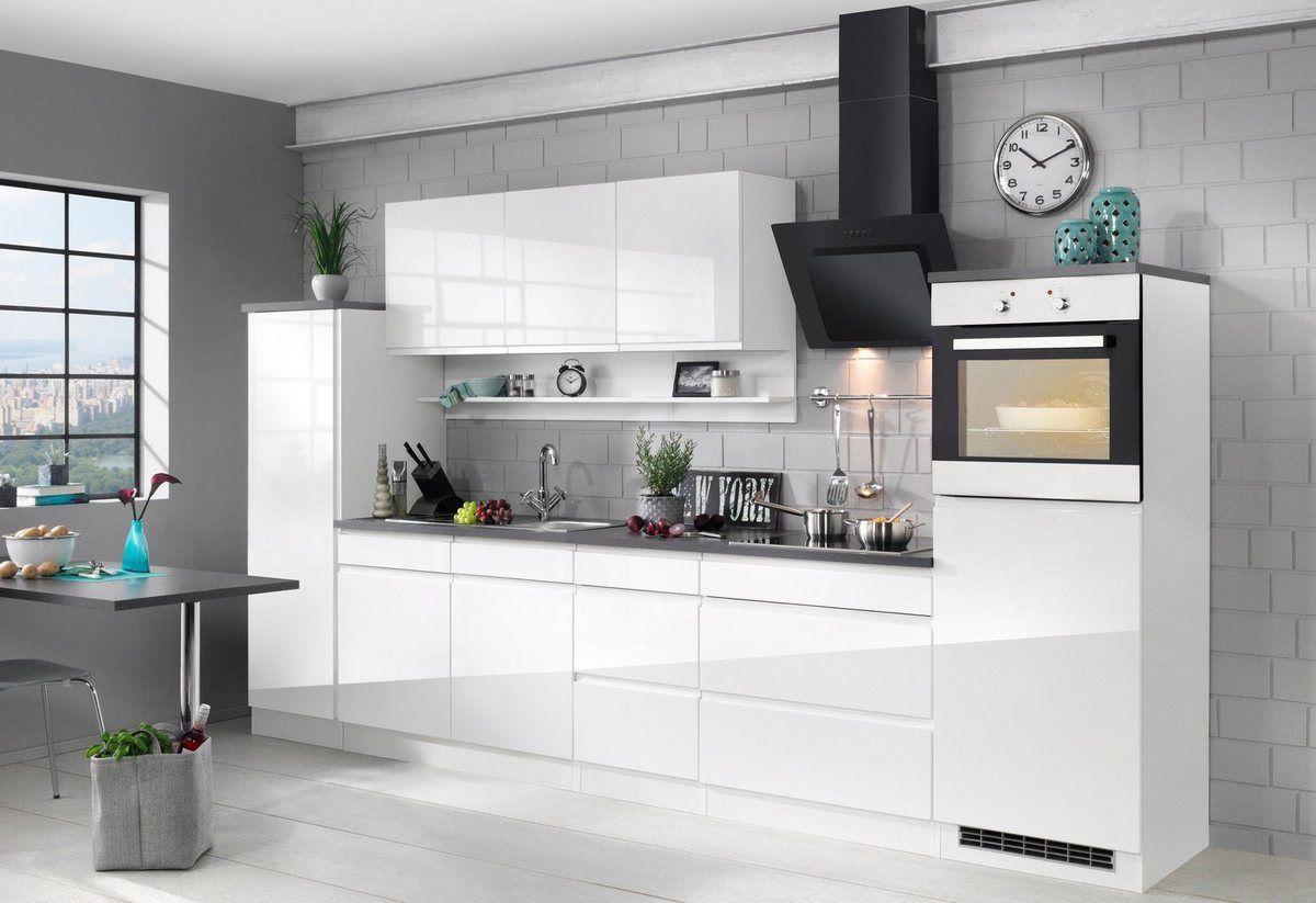 Küchenzeile mit EGeräten »Virginia«, Breite 290 cm, mit