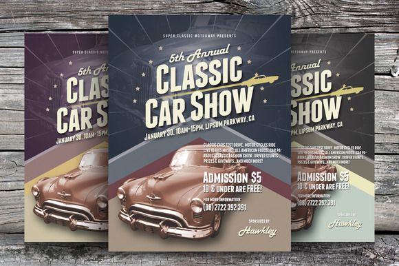 Check Out Classic Car Show Flyers By Kinzi On Creative Market
