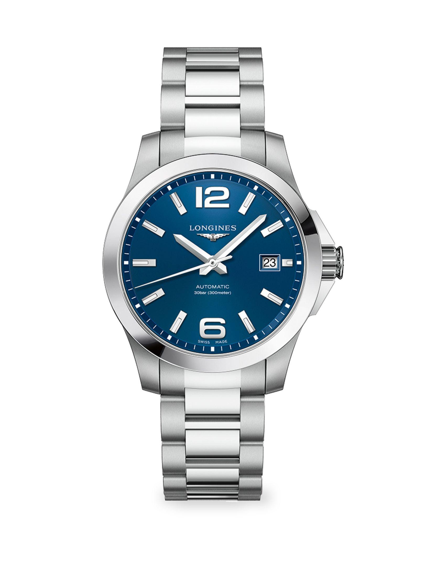 Longines Conquest Stainless Steel Bracelet Watch  5302fd9eea3