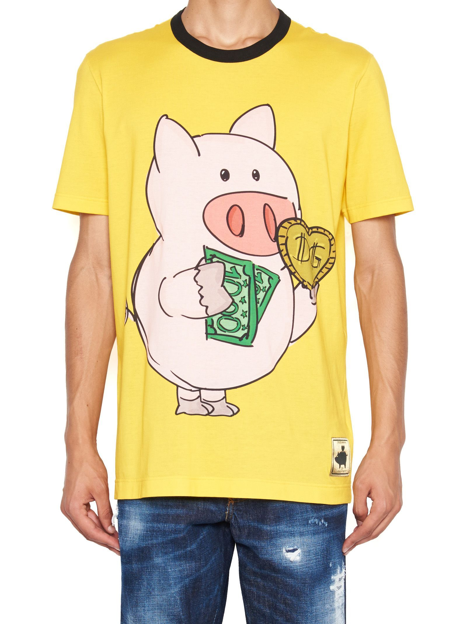 d29215df DOLCE & GABBANA 'MONEY PIG' T-SHIRT. #dolcegabbana #cloth | Dolce ...