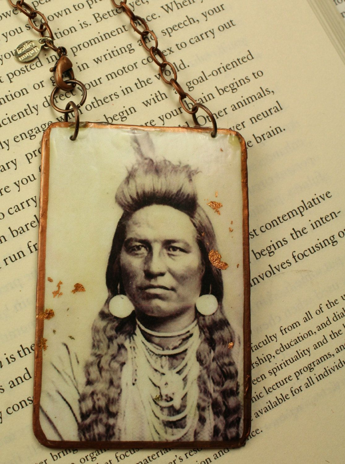 American Indian Brave Portrait In The Oconee Tribe Handmade Ornament ...