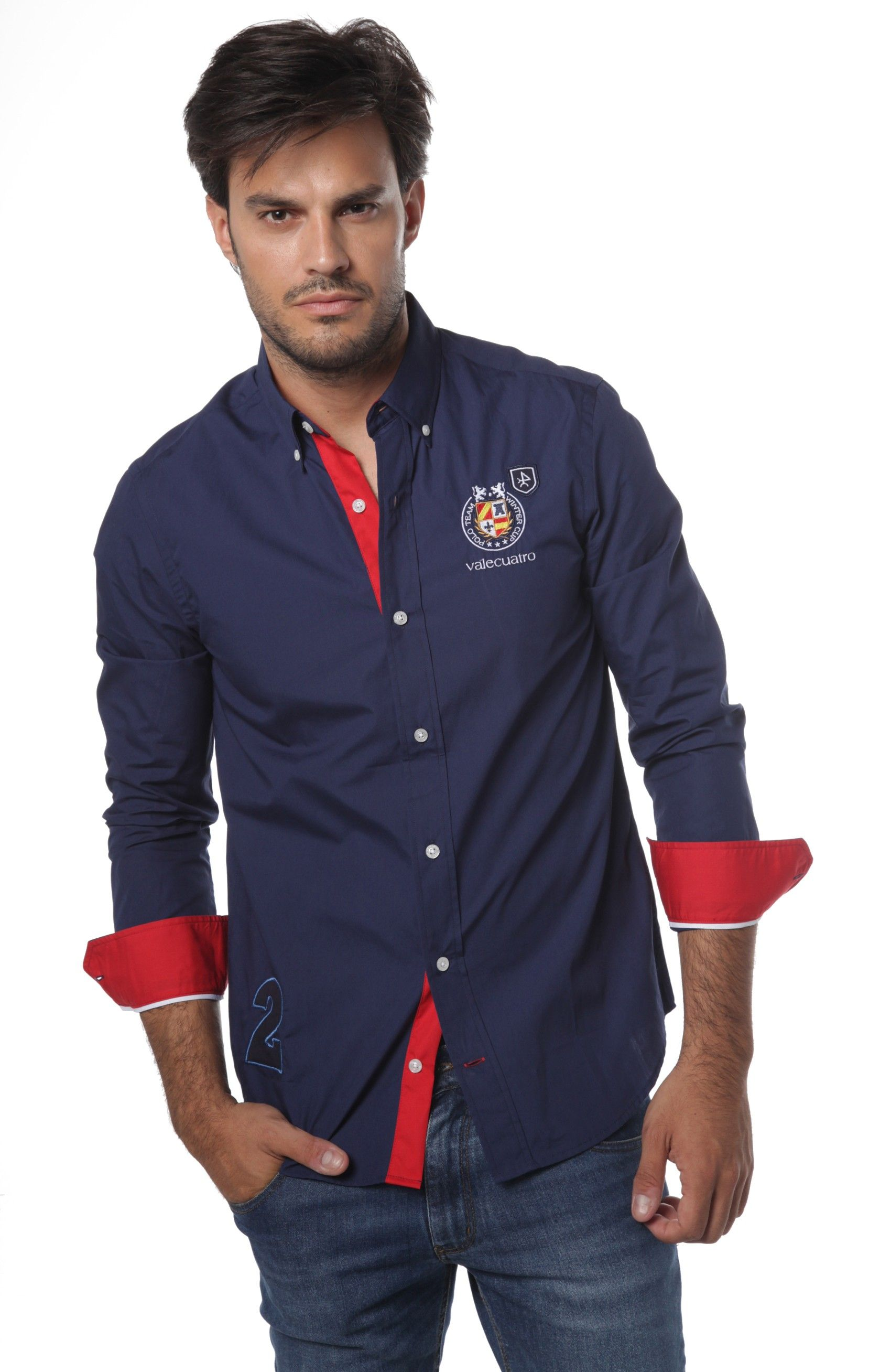 Marino Detalles Rojo Camisa Bandera España En Y Azul Con Color De PtZtwR