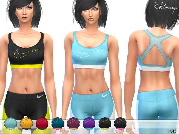 Sports Bra by ekinege at TSR • Sims 4 Updates