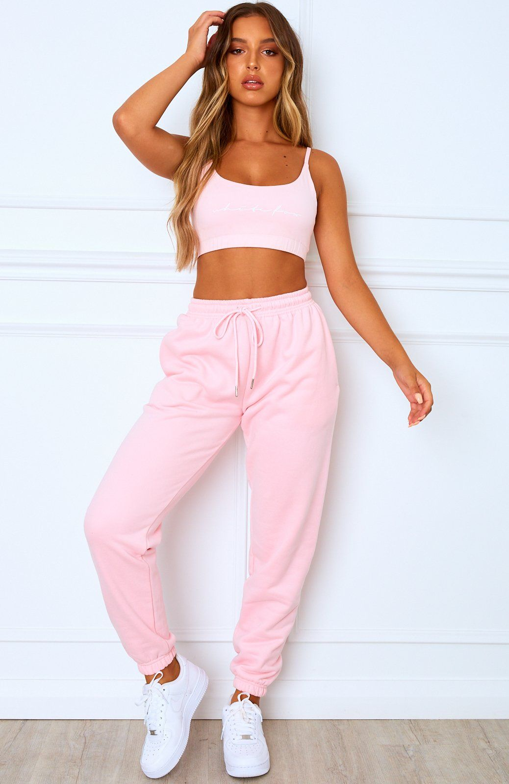 Tied Together Sweatpants Pink Teenage Fashion Outfits Girl Sweatpants Trendy Outfits