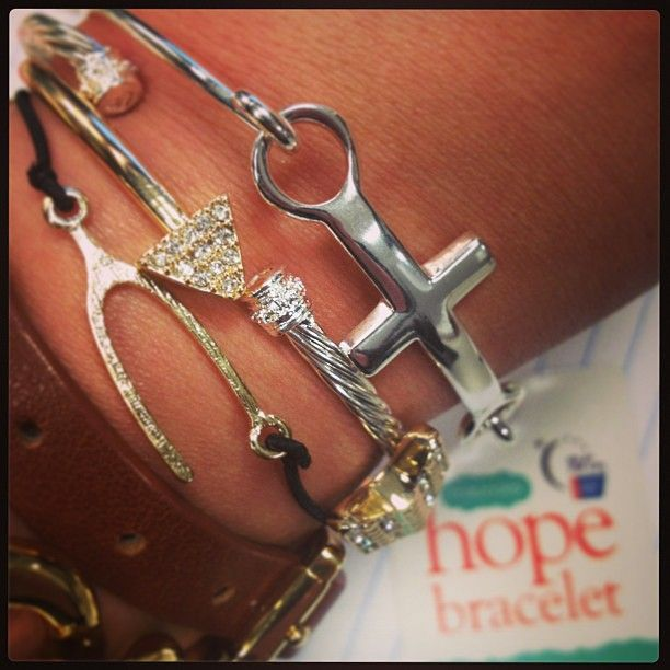 Love my Hope #ArmCandy!  A minimum payment of $5 from each #HopeBracelet sold will go to the #AmericanCancerSociety. Gets yours @maurices today! - @maurices- #webstagram