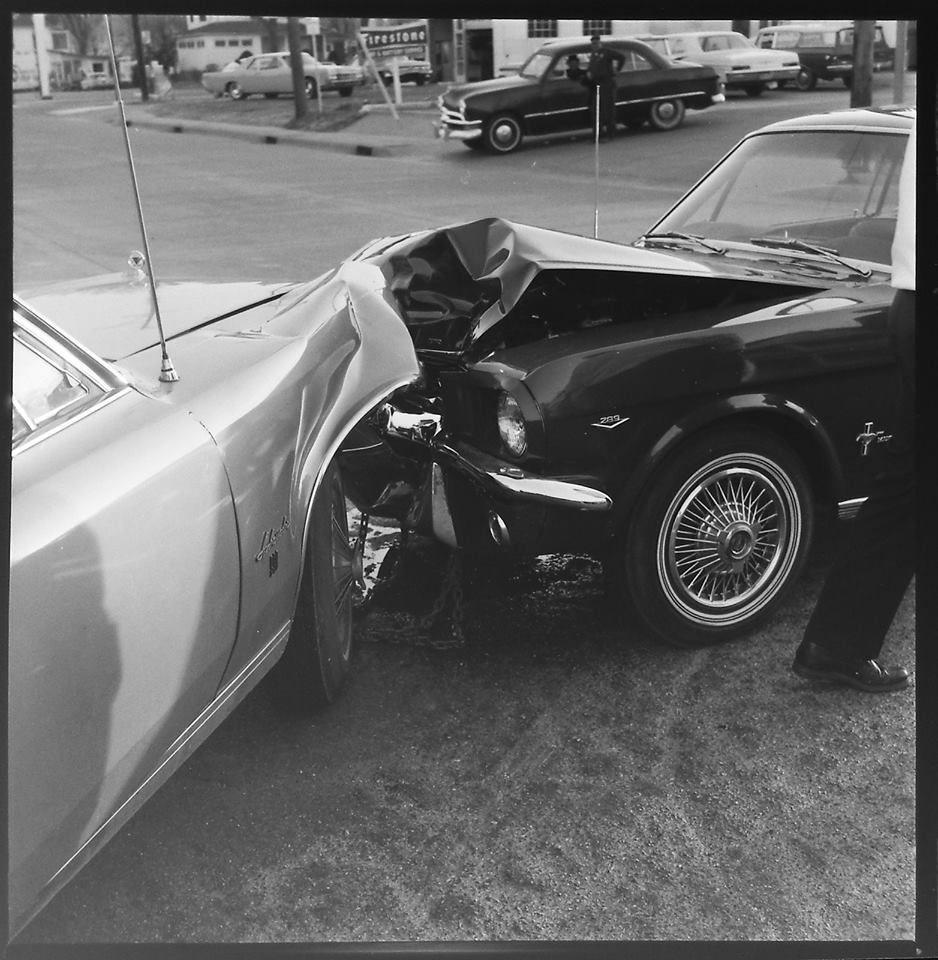Mustang Vintage Accident Car Crash Old Vintage Cars Mustang