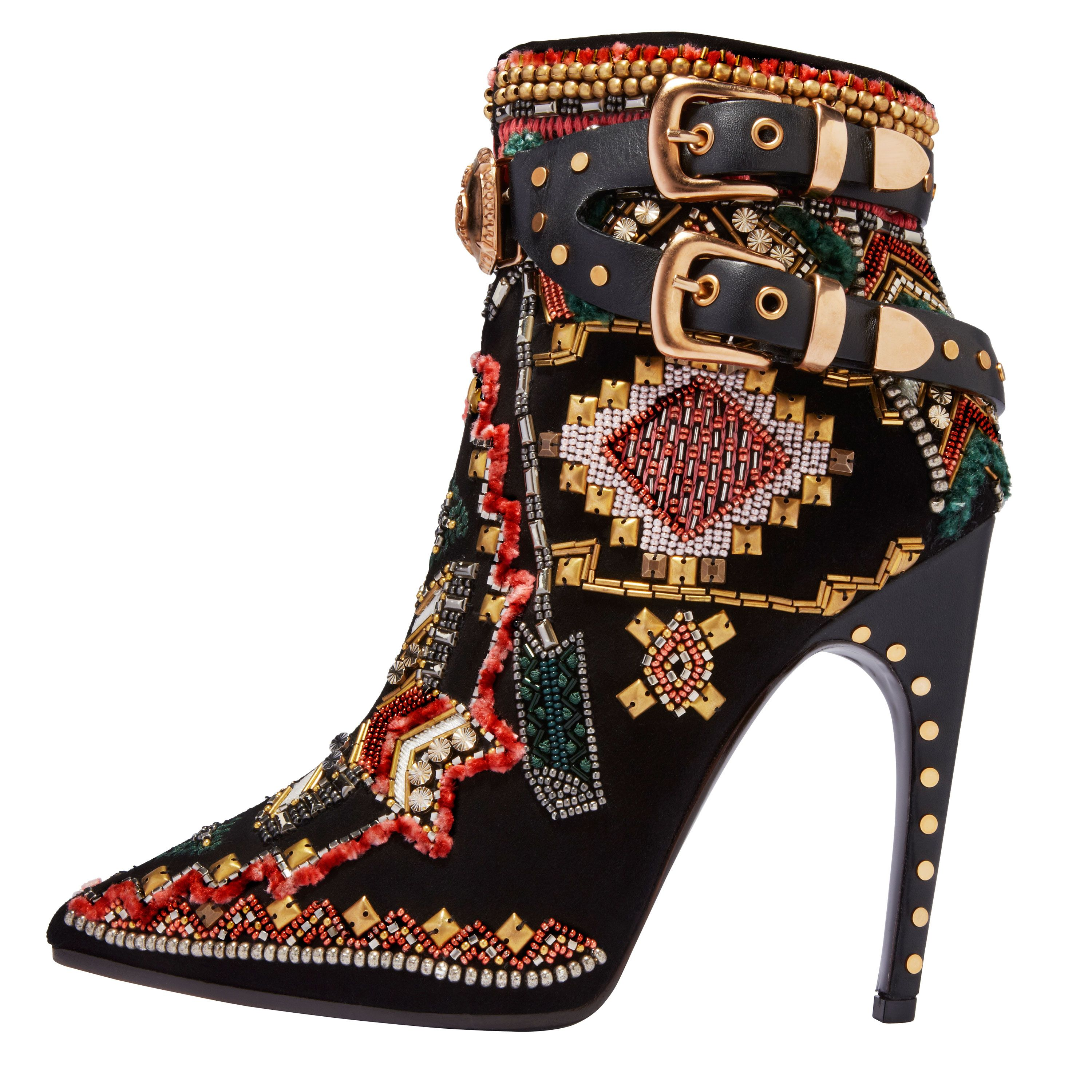 Bohemian Chic - Embroidered Booties Harpers