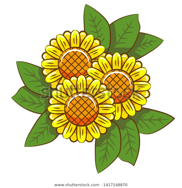 sunflower clipart ,sunflower vector ,sunflower design ...