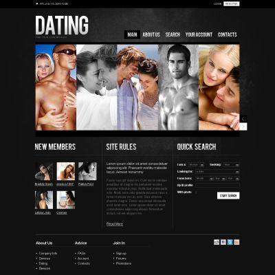 dating website psd template