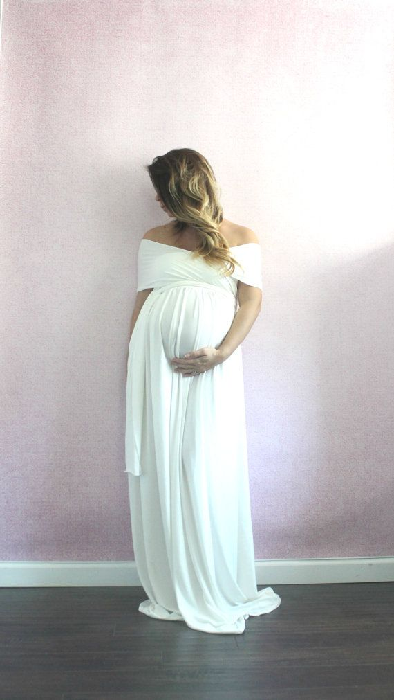 Maternity gown long bridesmaids dress- the wrap babydoll | Maternity ...