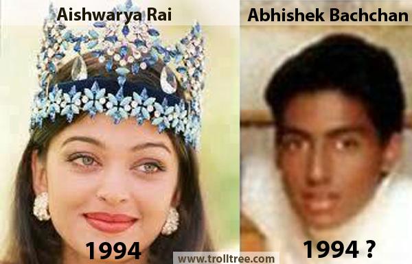 The Age Difference Between Aishwarya Rai Vs Abhishek Bachchan Comedy Pictures Desi Humor Bollywood