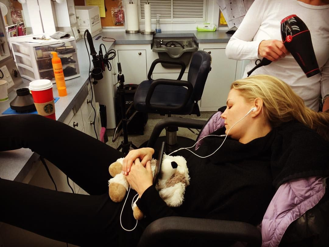 Ummm warming bear, playlist... Never made it to the coffee before I passed out. I guess exhaustion has set in. Had no idea this happened or that anyone took a picture of it. Thanks Debs for letting me sneak in a nap while you fixed up my Emma hair. Love you ladies for always taking care of me - tea, debs, kris. Couldn't do it without you. Xx #onceuponatime #darkswan #vintageEmma