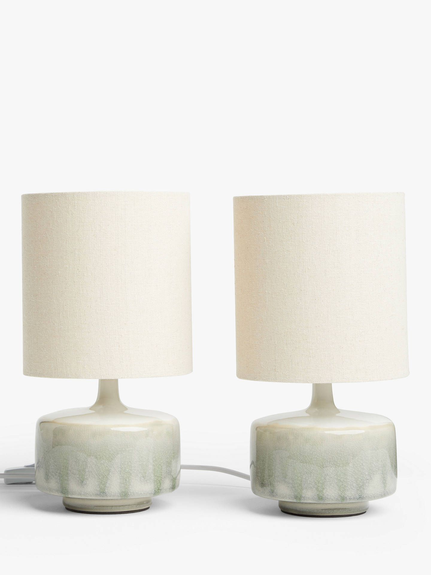 John Lewis Partners Glazed Ceramic Table Lamps Set Of 2 Green In 2020 Ceramic Table Lamps Table Lamp Side Table Lamps