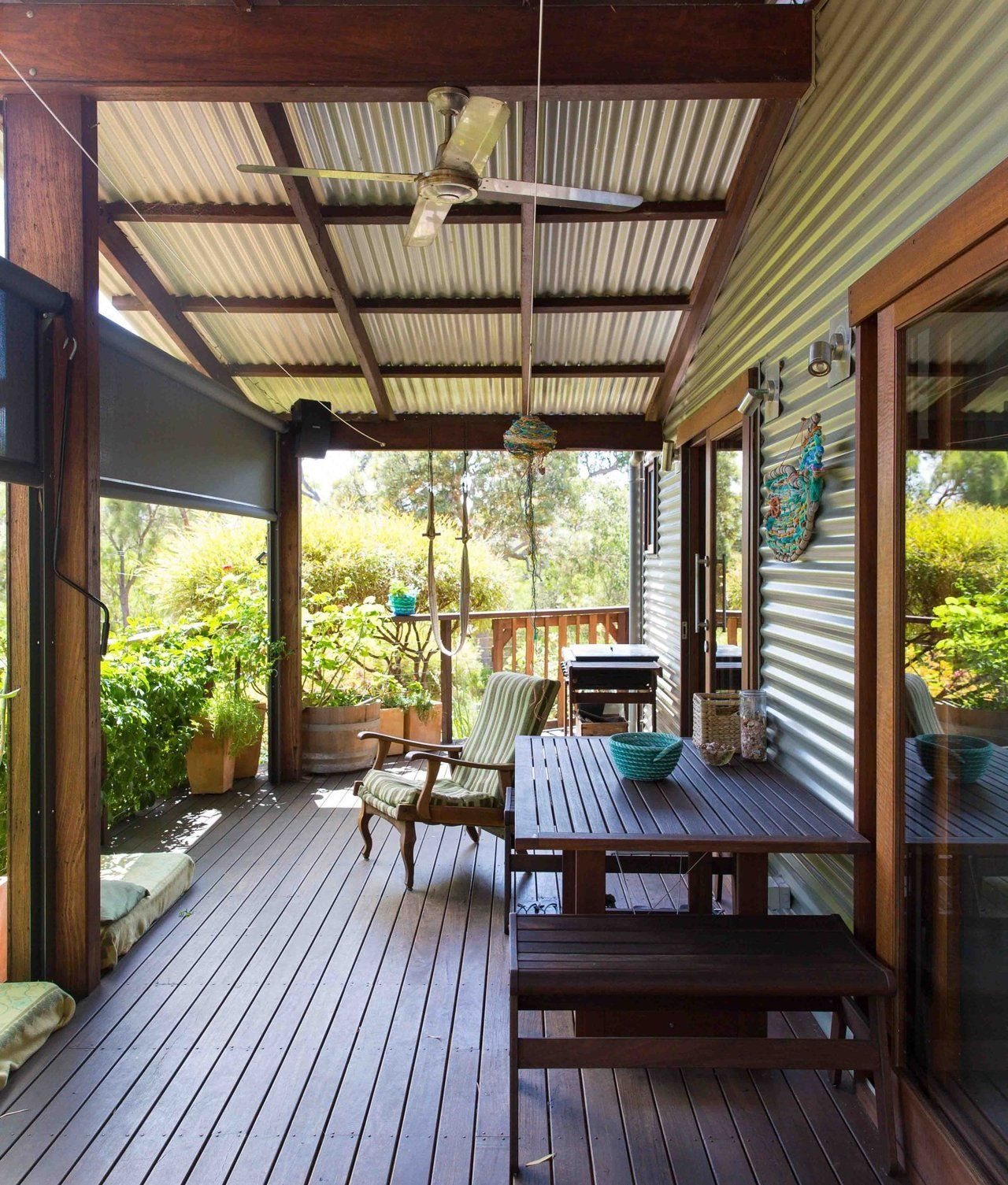 Corrugated metal House Tour Natural Materials in