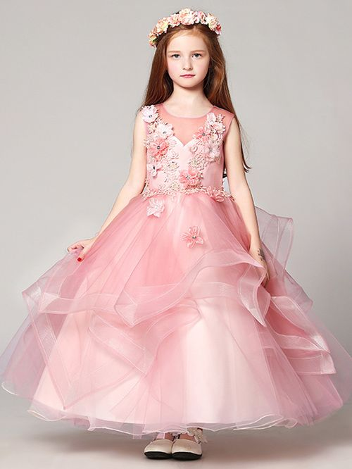 Sleeveless Maxi Dress For Prom Girls Age 8 12 Years Old Tulle