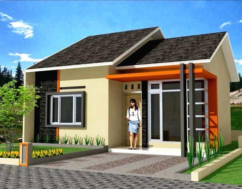 Rumah Minimalis 1 Lantai Tampak Depan Sederhana Di Desa