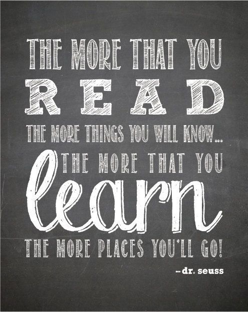 National Read Across America Day Quote by Dr Seuss read