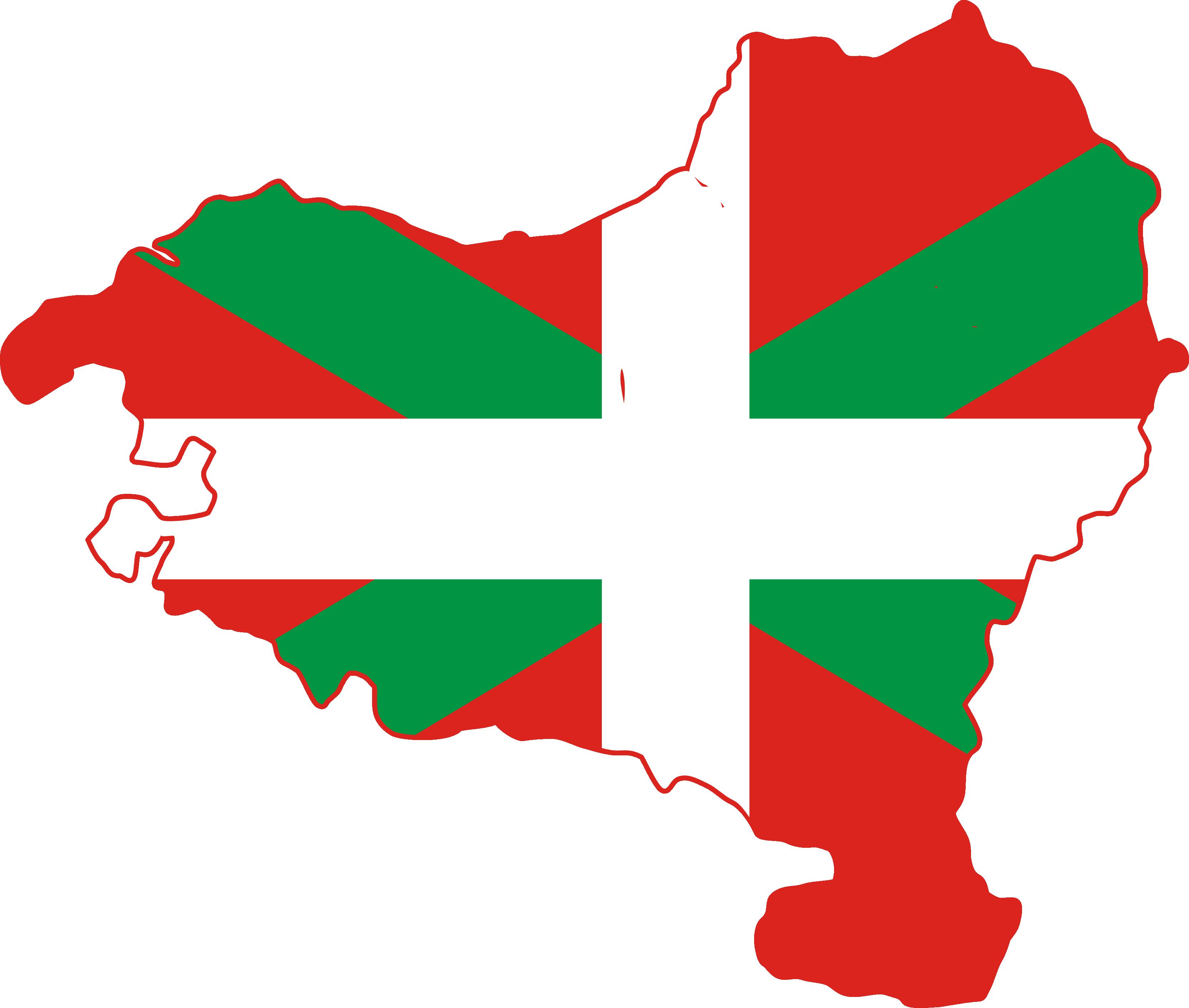 Flag Map of Basque Country scallywag Flag SVG Flagartist.