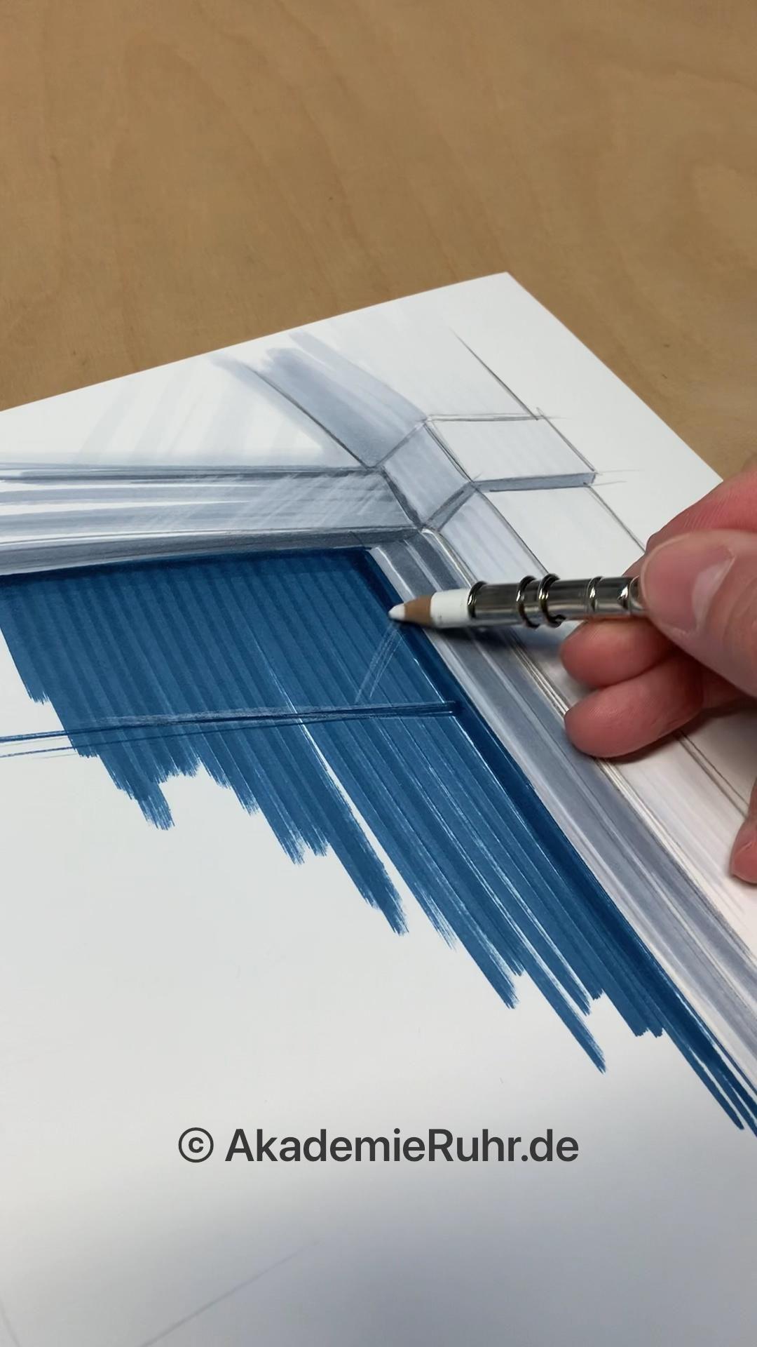 Architektur Skizzen. Architektur Zeichnung. Architektur Mappenkurs ...