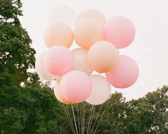Erröten Runde Elfenbein Pastell rosa oder weiß 36 von PomJoyFun