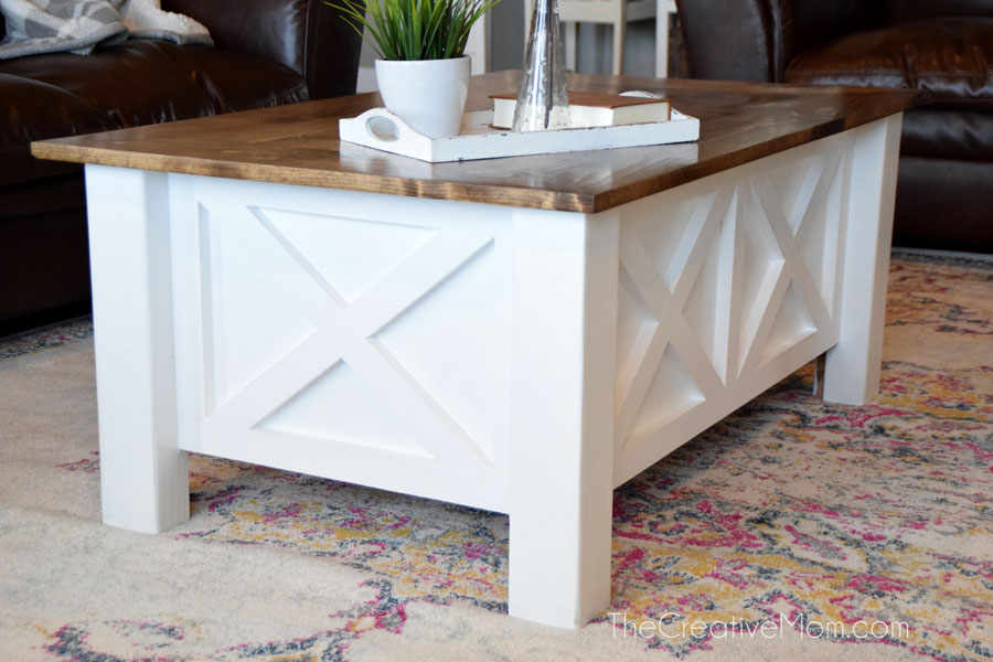 How to Build a Farmhouse Coffee Table (with storage) free