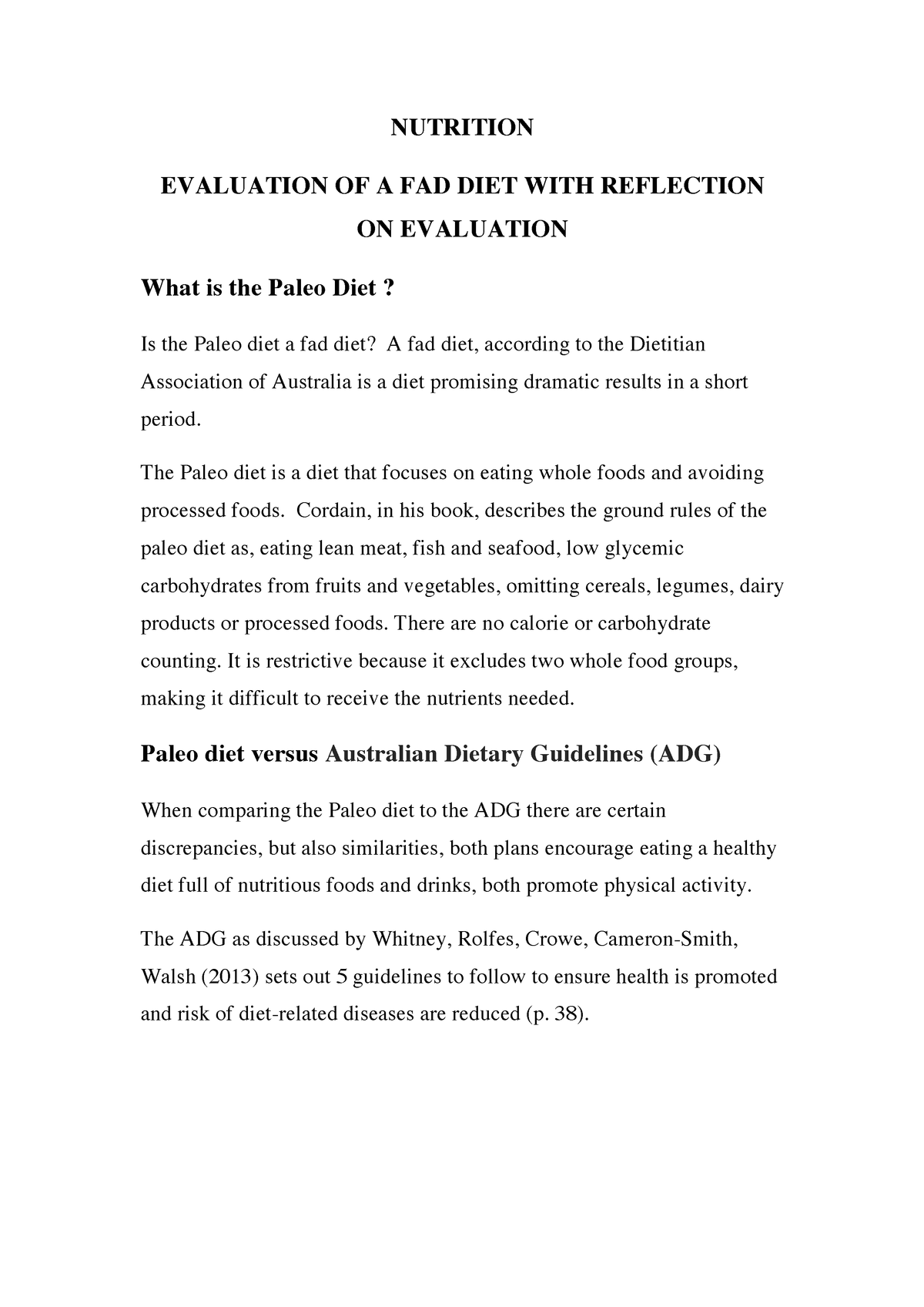 Nutritiou Diet Essay Healthy Lifestyle On Nutrition