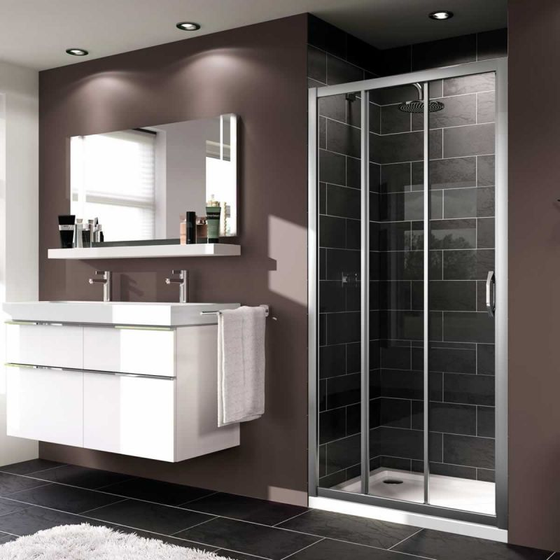 Bathroom Pinspiration Modern Huppe X1 3 Panel Sliding Door Shower Enclosure Sliding Shower