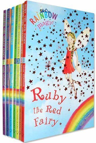 Rainbow Magic Colour Fairies Collection 7 Books Pack Set (Series 1 to 7) RRP £27.93 ( Ruby the Red Fairy, Amber the Orange Fairy, Saffron the Yellow Fairy, Fern the Green Fairy, Sky the Blue Fairy, Izzy the Indigo Fairy, Heather the Violet Fairy ) (Rainbow Magic) by Daisy Meadows http://www.amazon.co.uk/dp/B003MIIIYM/ref=cm_sw_r_pi_dp_Mtq0vb1G3TRVE