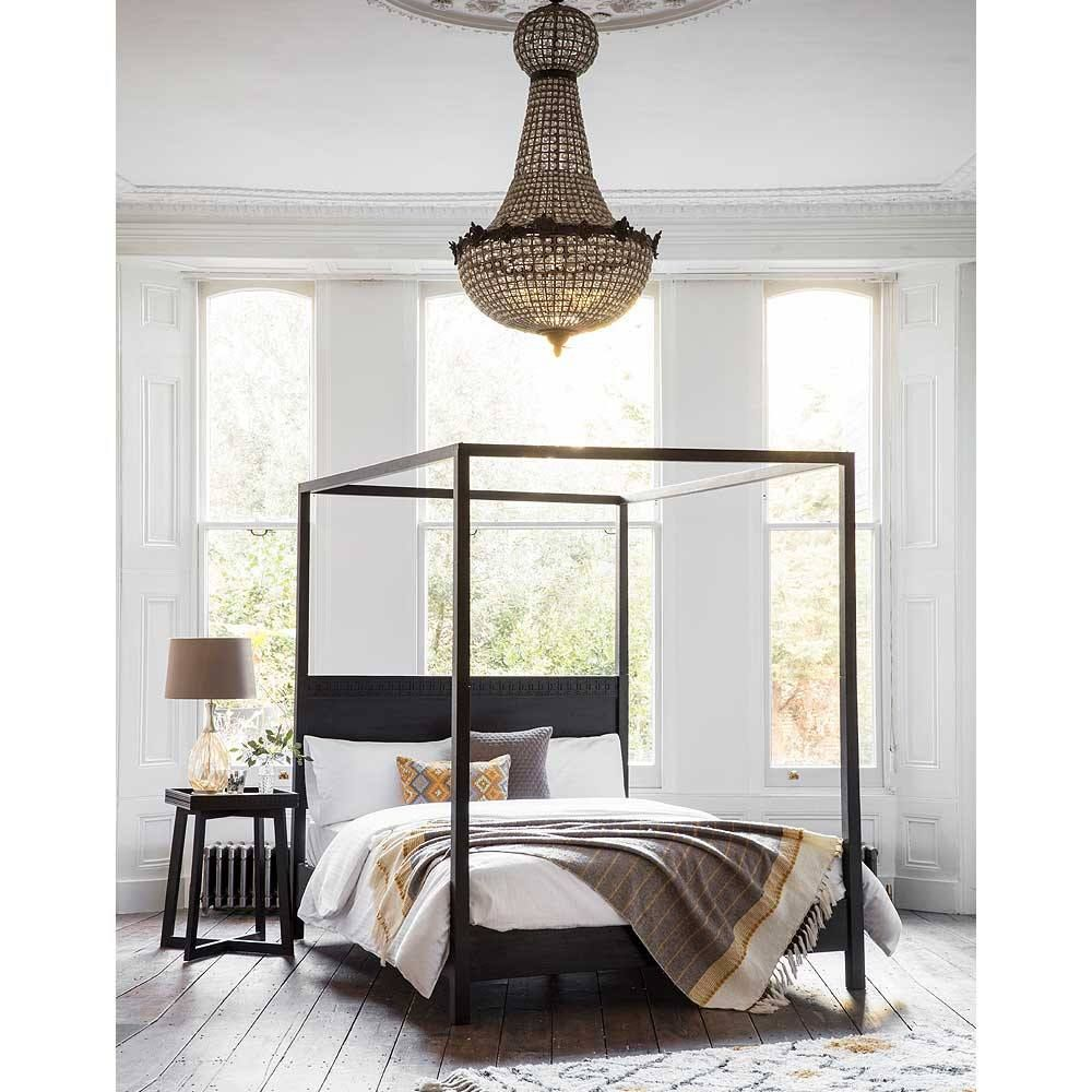 ffcfdf937be83 The Hedonist Black 4-Poster Bed in 2019