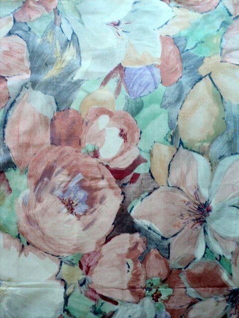 Huge Pastel Flower Pattern Fabric  1 yard  by DocksideDesignsEtc, $5.00