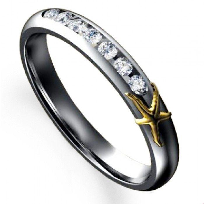 starfish engagement ring platinum starfish 7 stone diamond