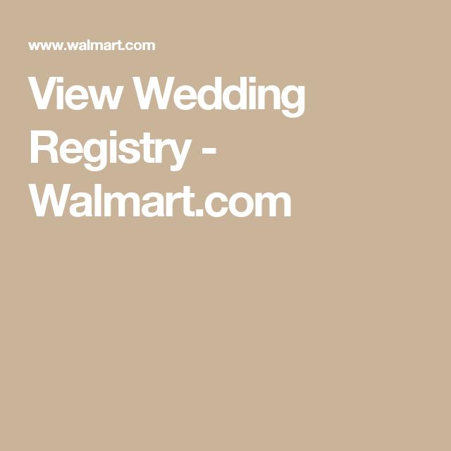 Walmart Marriage Registry Online
