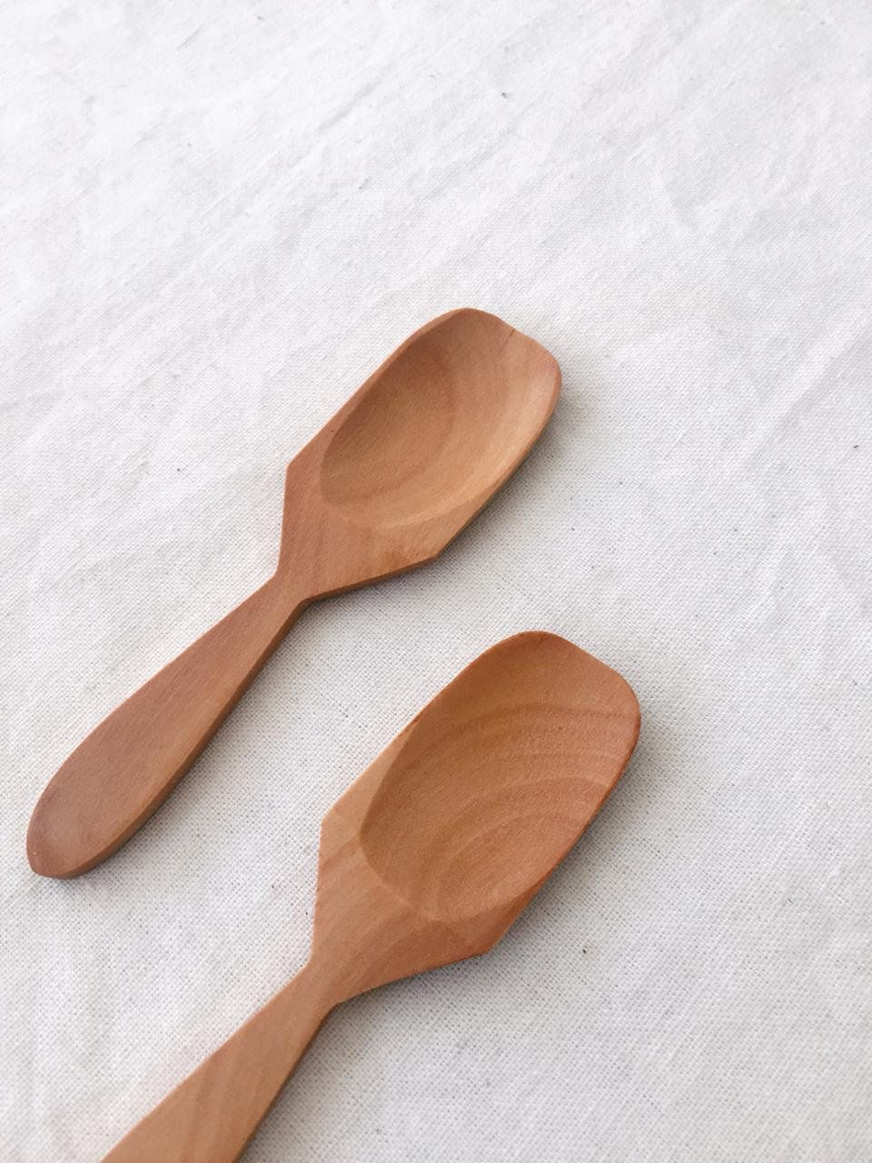 Small Wooden Spoon Scoop Salt Sugar