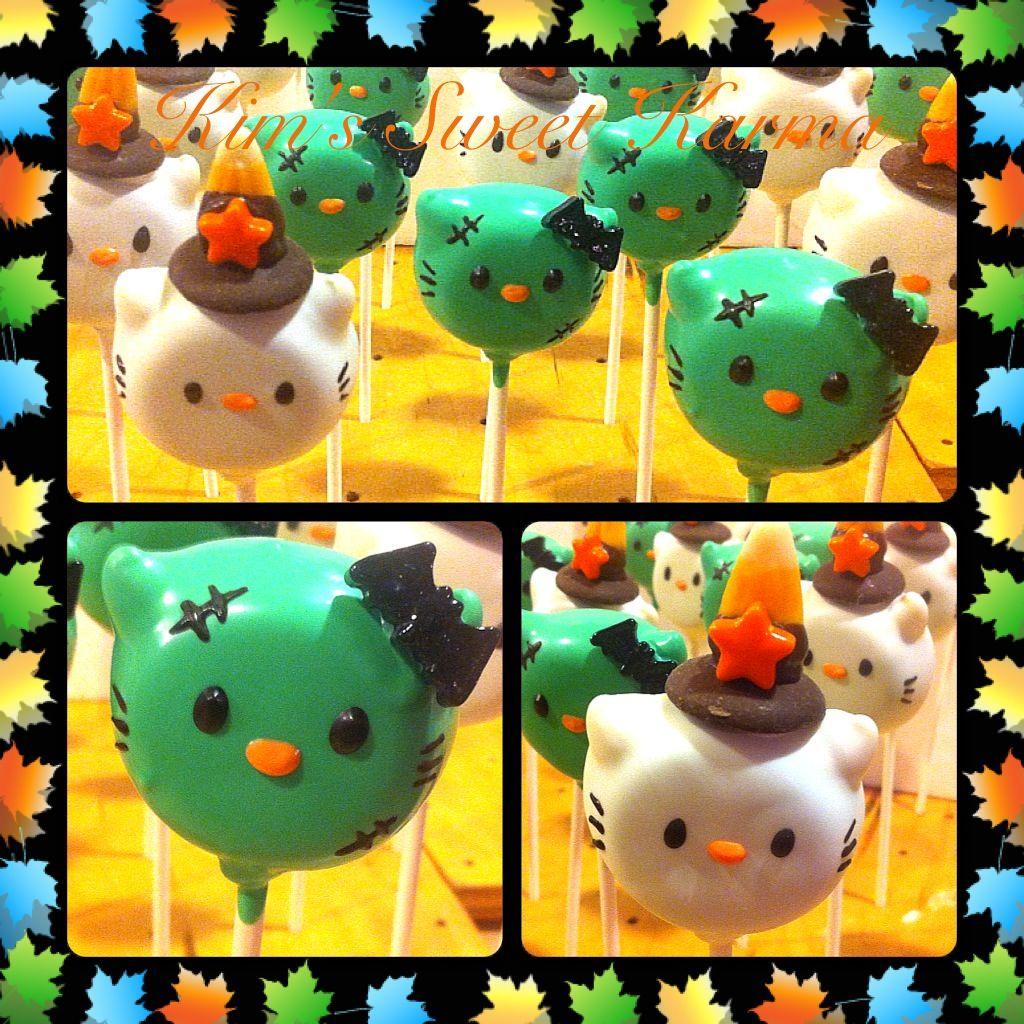Halloween hello kitty cake pops