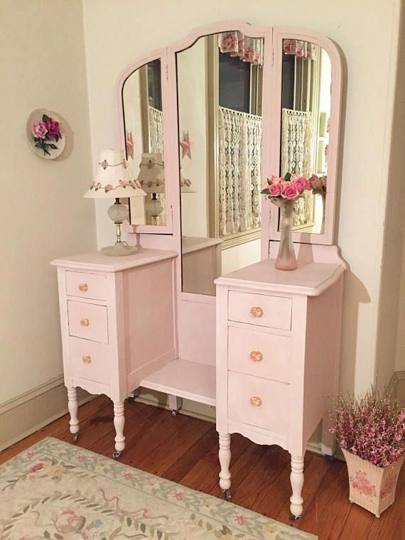 forever pink pretty in pink vanity with tri fold mirror