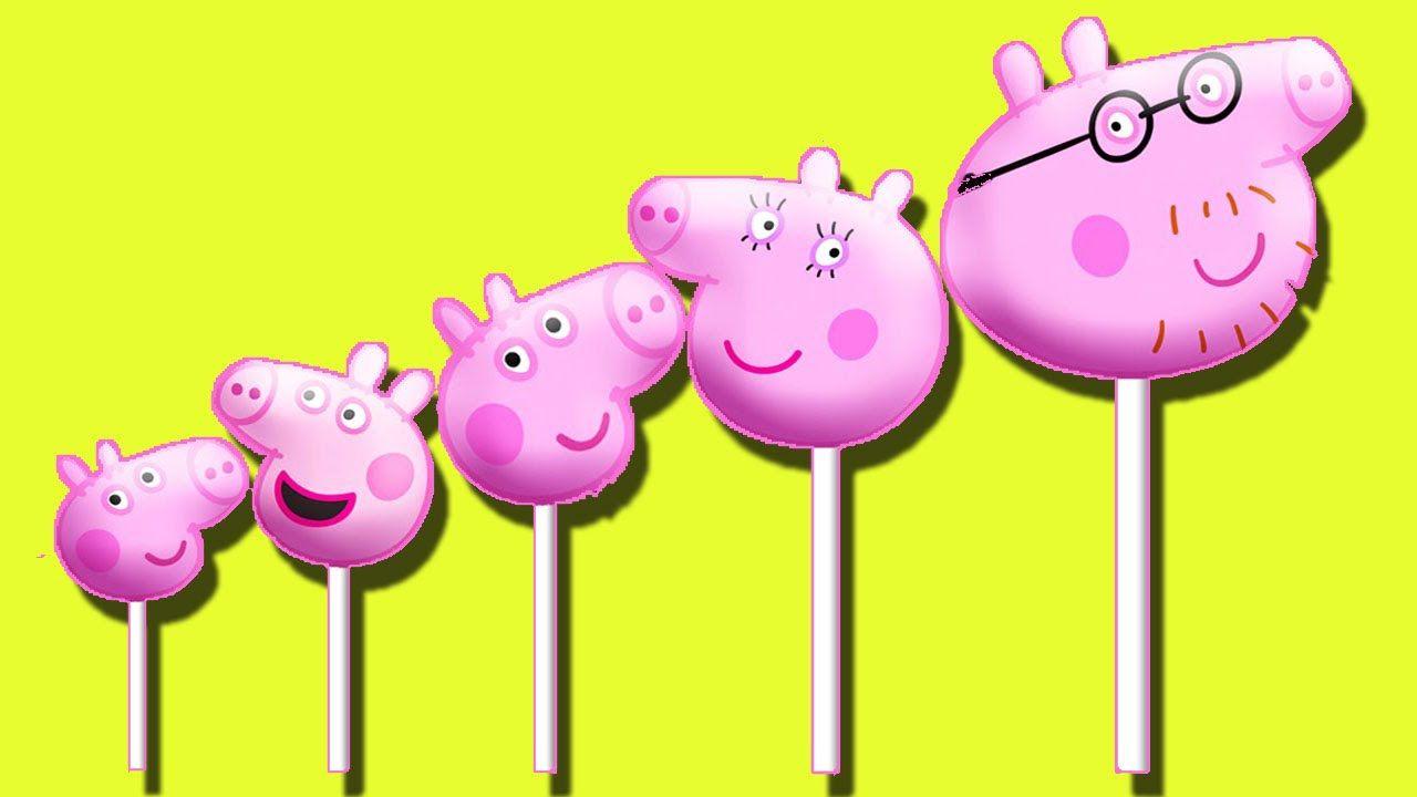 Peppa Pig Lollipops Nursery Rhyme Play Doh Finger Family 2