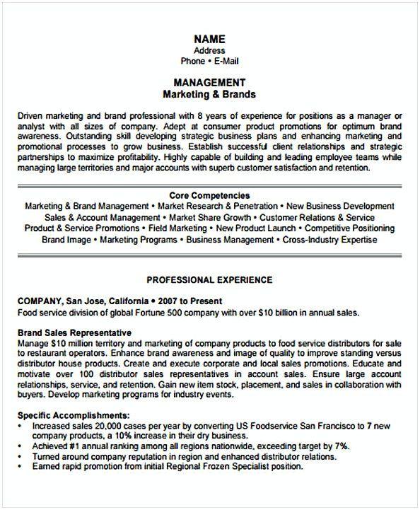 Marketing Resume template sample , Change Management Resume , What ...