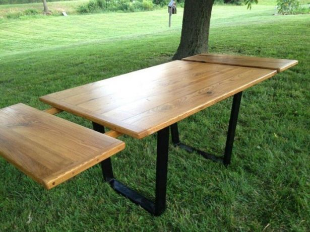 Beautiful Reclaimed Chestnut Table Top With Metal Legs And Company Boards.  See More At Www