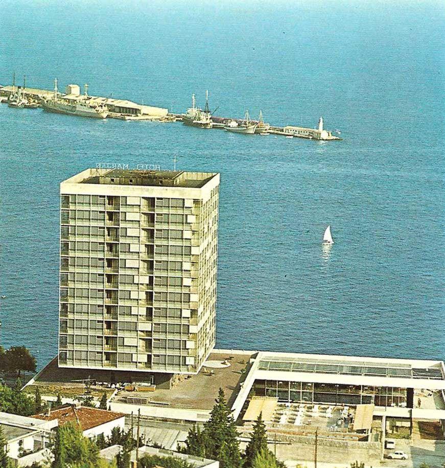 The Marjan Hotel in Split, SFRJ Yugoslavia.