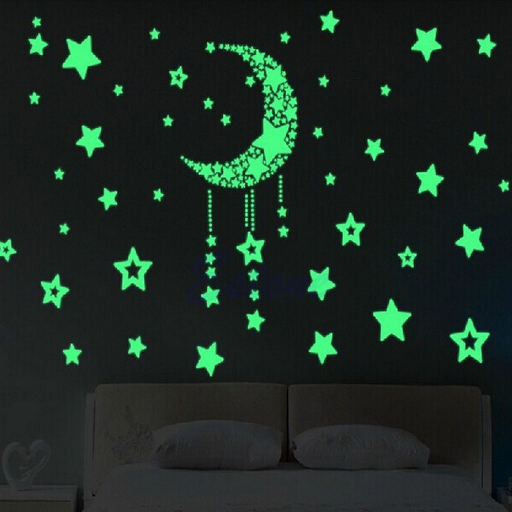 Star Bedroom Decor Hot Glow In The Dark Wall Stickers Home Bedroom Decor Luminescent