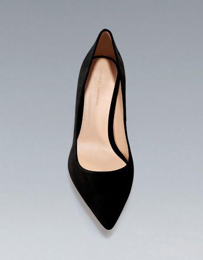 zapatos tacon zara negros 2017