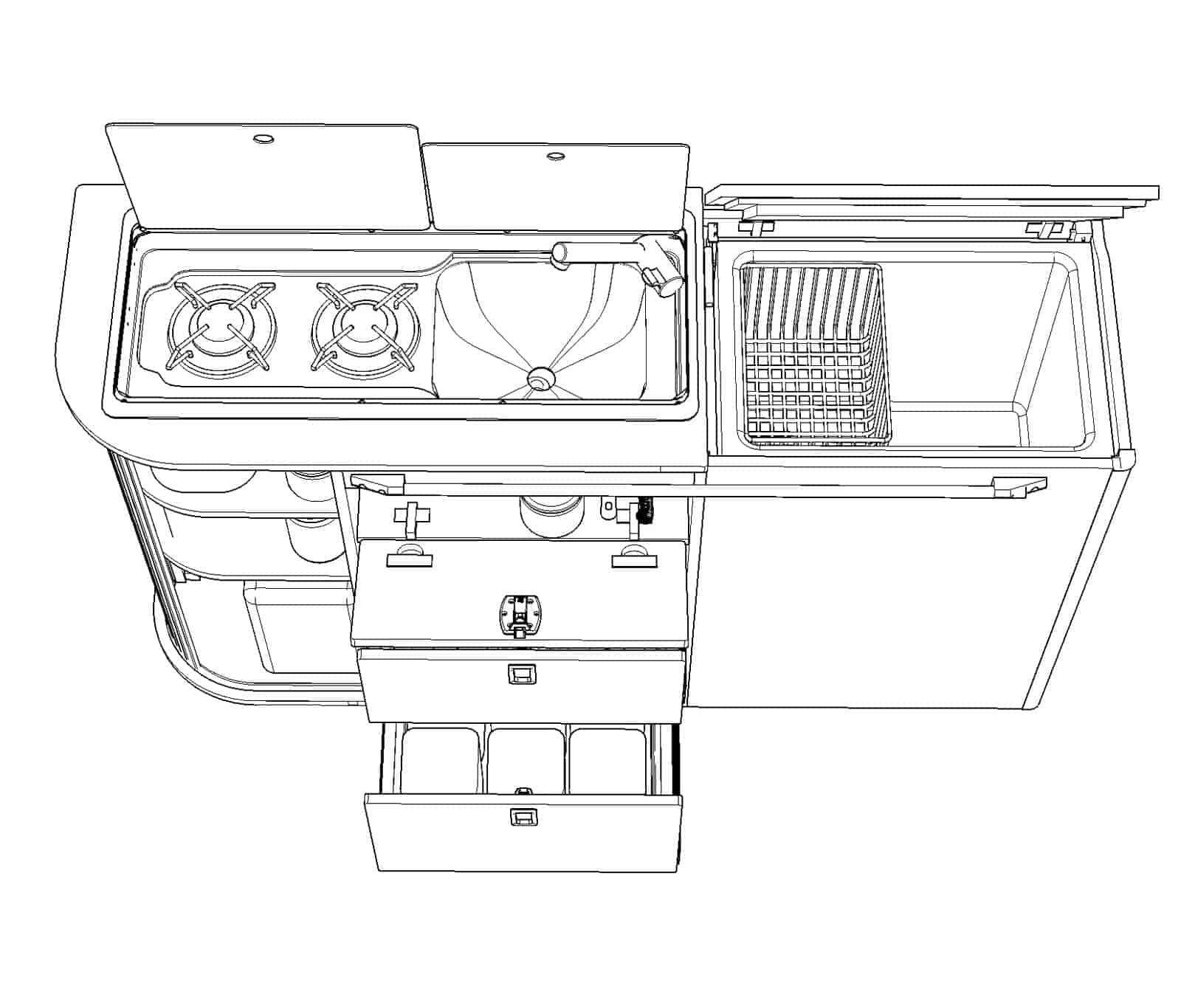 Pin On Vw T4 T5 T6 Camper Van Furniture Flat Packs