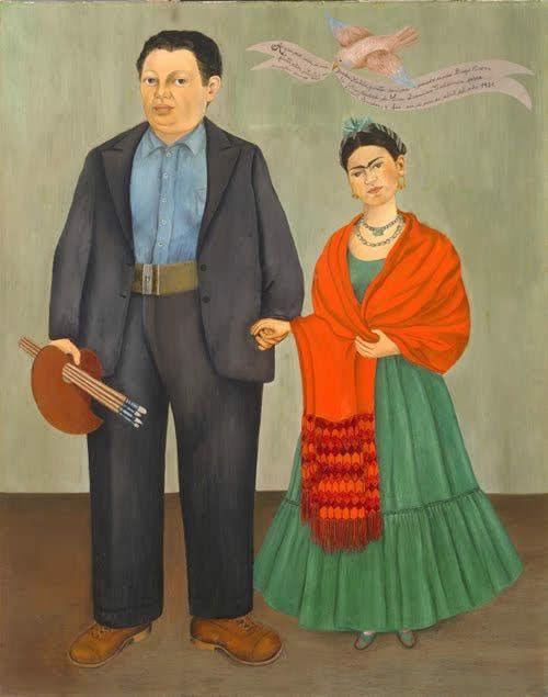 Frida Kahlo y Diego Rivera, 1931. Óleo sobre tela. 100 x 78.7 cm. San Francisco Museum of Modern Art, California, Estados Unidos. www.sfmoma.org