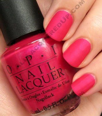 **OPI [Matte] - La Paz-itively Hot (Matte Collection Summer 2009) / AllLacqueredUp